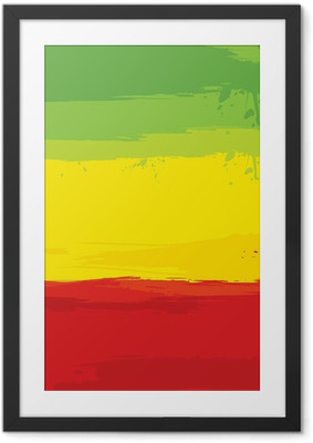 grunge background with flag of Ethiopia Framed Poster