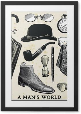 Ingelijste Poster Wereld Een man