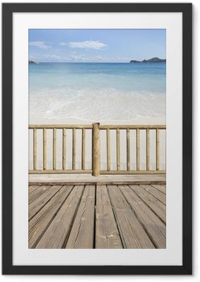 Poster i Ram Terrasse-balcon avec vue sur mer aux Seychellerna