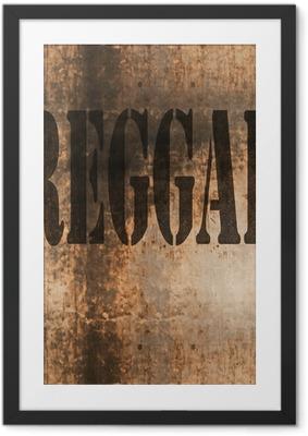 Poster en cadre Reggae mot musique grunge abstraite - Signes et symboles