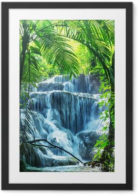 Gerahmtes Poster Wasserfall in Mexiko