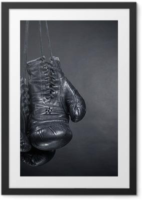 Gamle boksehandsker Indrammet plakat