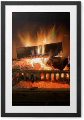Fireplace Framed Poster