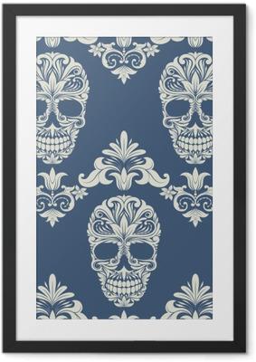 Poster en cadre Crâne de remous décoratif - Vie