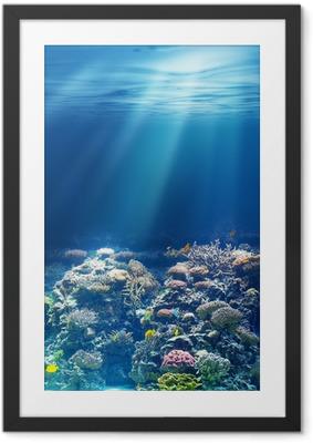 Poster i Ram Havet eller havet under vattnet korallrev