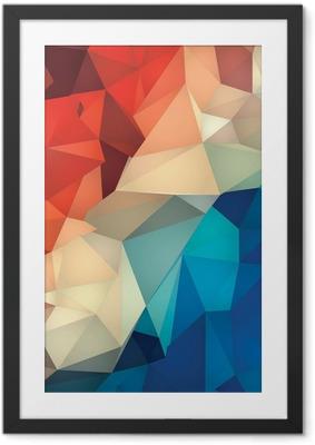Poster en cadre Résumé bas fond poly géométrique