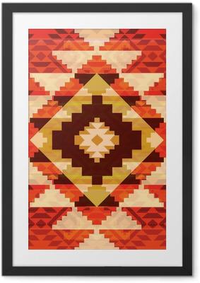 Gerahmtes Poster Tribal Ornament
