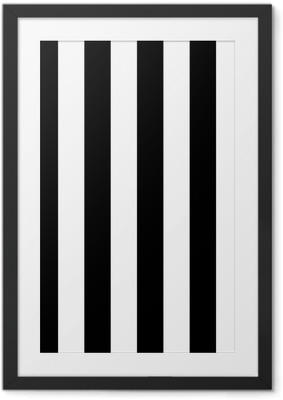 Gerahmtes Poster Diagonale Linien schwarzen und weißen Muster