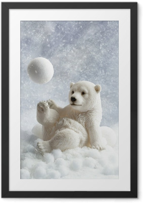 Poster i Ram Polar Bear Dekoration