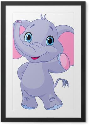 Poster i Ram Söt elefant