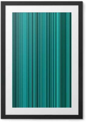 Turquoise colors abstract vertical lines background. Framed Poster