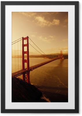Poster i Ram Golden Gate-bron, San Francisco, Kalifornien