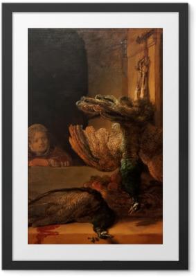 Poster en cadre Rembrandt - Nature morte avec des paons