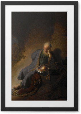 Rembrandt - Jeremiah Mourning Over the Destruction of Jerusalem Framed Poster
