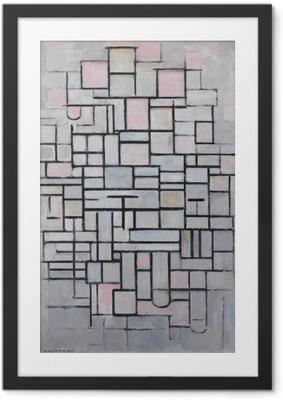 Poster en cadre Piet Mondrian - Composition n ° 4