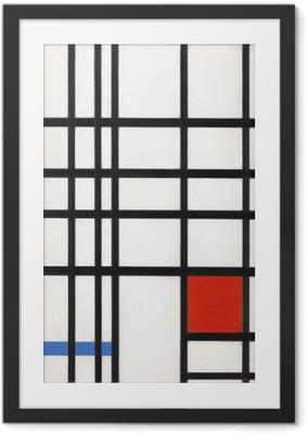 Póster Enmarcado Piet Mondrian - Composición en amarillo, azul y rojo