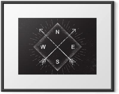 Póster Enmarcado Flechas, la brújula, el diseño del grunge, ilustración vectorial
