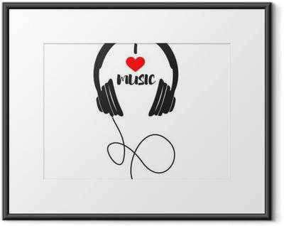 Innrammet plakat Jeg elsker musikk