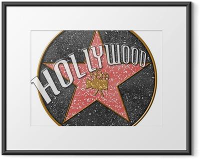 Innrammet plakat Hollywood Star