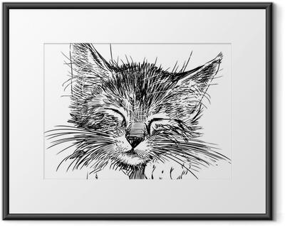 Ingelijste Poster Slapende kat