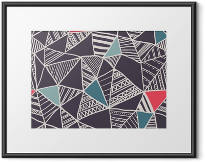 Ingelijste Poster Abstracte naadloze doodle patroon