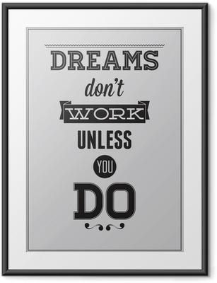 Poster i Ram Motivational affisch