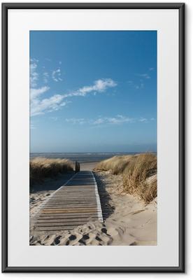 Plakat w ramie Plaże Morza Północnego na Langeoog