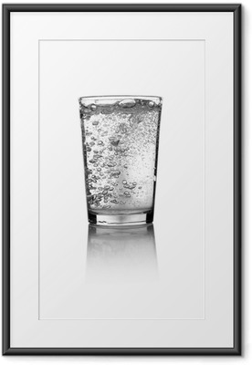 Póster Enmarcado Glass of water