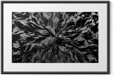 Plakat w ramie 3d abstrakta tło