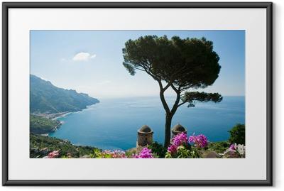 Plakat w ramie Wybrzeże Amalfi Widok