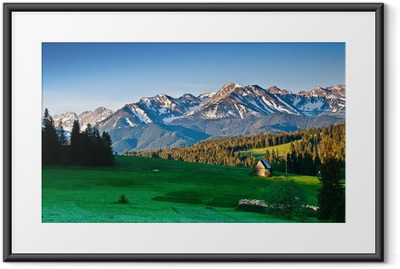 Polish Tatra mountains panoram in the morning Framed Poster