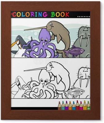 Coloriage Bebe Tapir.Tableau Sur Toile Animaux Vie Livre De Coloriage De Groupe De La Mer