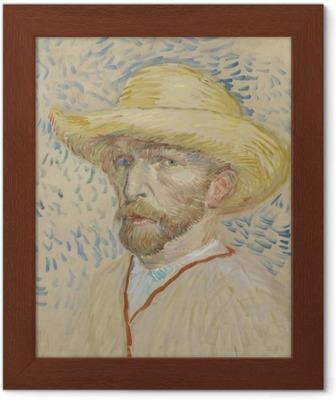 c18a347860a3f Fotomural Vincent van Gogh - Autorretrato con sombrero de paja y el  delantal del artista • Pixers® - Vivimos para cambiar