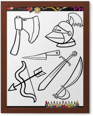 Cartoon Waffen Objekte Ausmalbilder