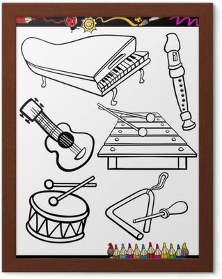 Karikatur Muzik Aletleri Boyama Poster Pixers Haydi Dunyanizi