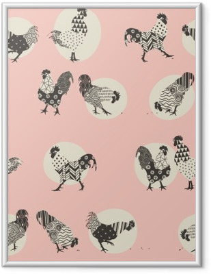Immagine in Cornice Roosters