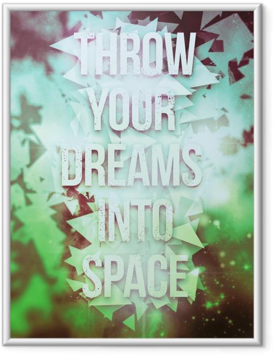 Image encadrée Poster Motivant -