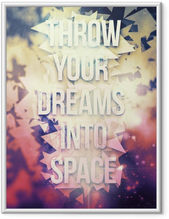 Gerahmtes Bild Motivierend Poster -