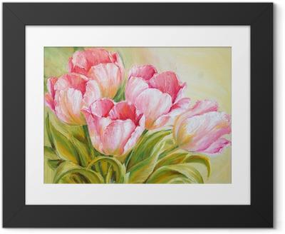 Fotografia com Moldura Oil Painting tulips