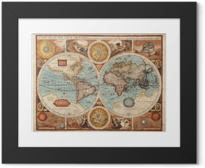 Old map (1626) Framed Picture