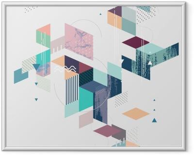 Gerahmtes Bild Abstract modern geometrischen Hintergrund