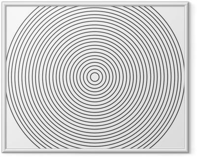Gerahmtes Bild Konzentrisches Kreiselement auf einem weißen Hintergrund