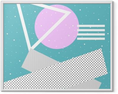 Obrazek w ramie Kolaż współczesnej sztuki. koncepcja plakatów w stylu Memphis. abstrakcyjny surrealizm i minimalizm. tło hipster