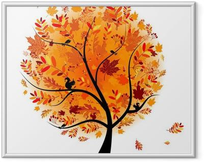 Image encadrée Arbre automne beau pour votre conception.