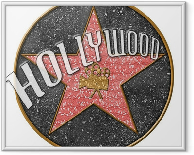 Hollywood Star Framed Picture