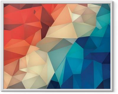 Innrammet bilde Abstrakt geometrisk lav poly bakgrunn