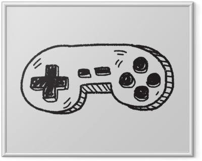 Lámina Enmarcada Controlador de juego de doodle
