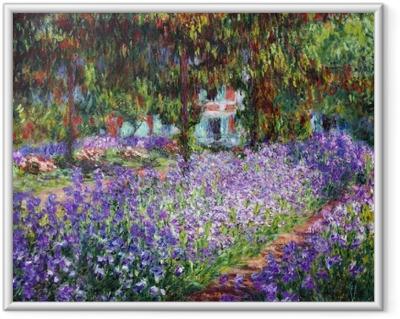 Innrammet bilde Claude Monet - Kunstnerens hage ved Giverny