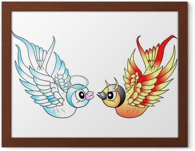 Ptaki Tatuaż Anioł I Diabeł