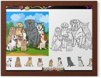 Coloriage Chien Lhassa Apso.Sticker Les Chiens De Race Dessin Anime Pour Livre De Coloriage